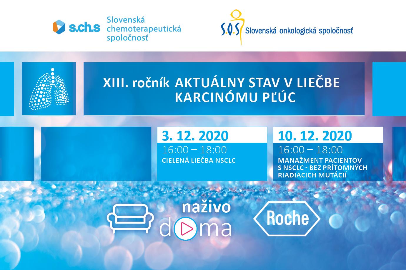 XIII. ročník Aktuálny stav v liečbe karcinómu pľúc 03.12.2020