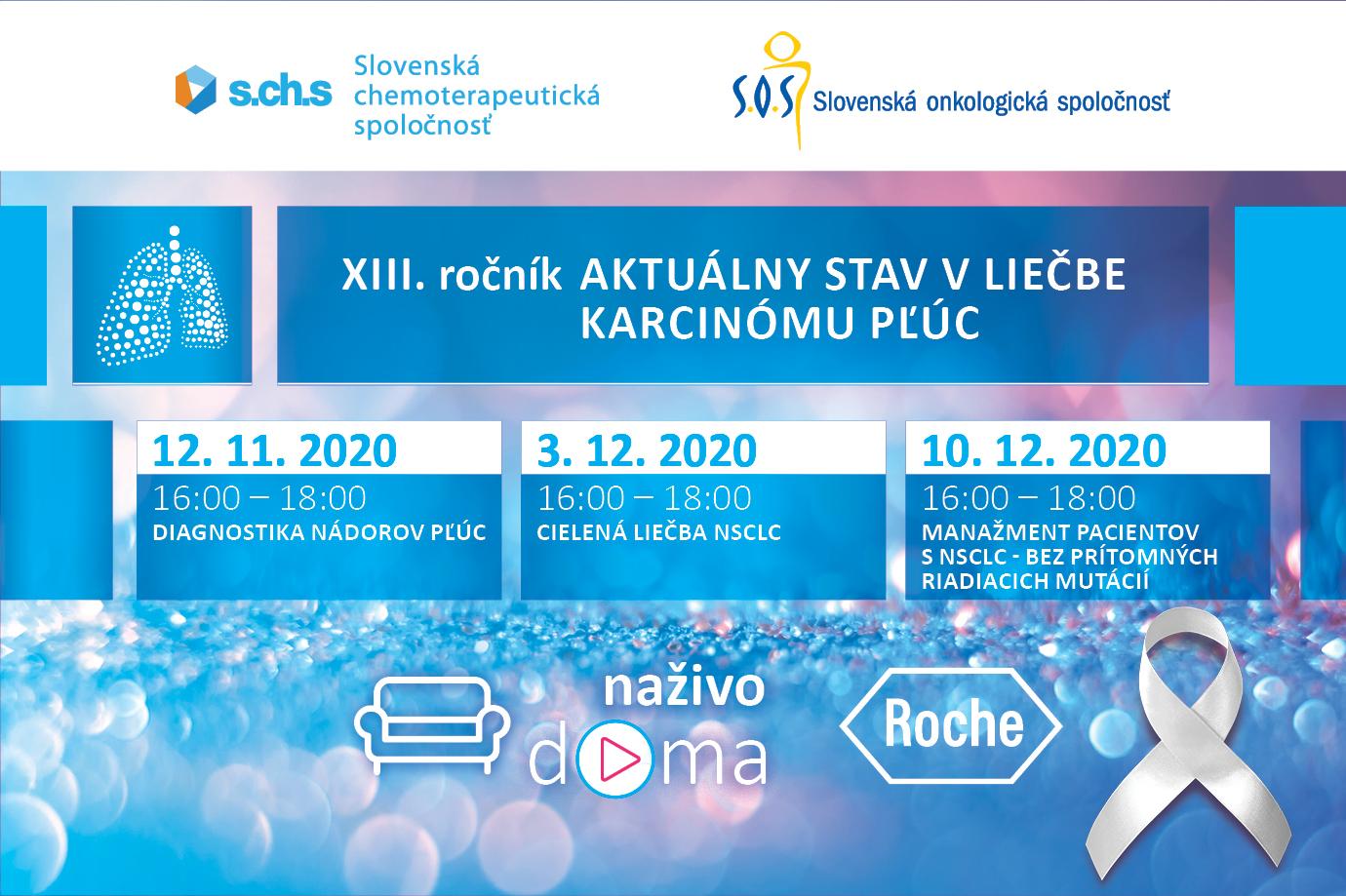 XIII. ročník Aktuálny stav v liečbe karcinómu pľúc 12.11.2020