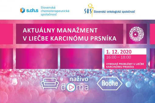 Aktuálny manažment v liečbe karcinómu prsníka 1.12.2020