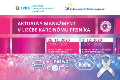 Aktuálny manažment v liečbe karcinómu prsníka 26.11.2020