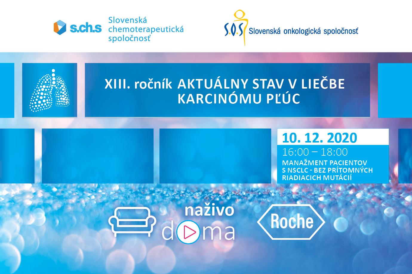 XIII. ročník Aktuálny stav v liečbe karcinómu pľúc 10.12.2020